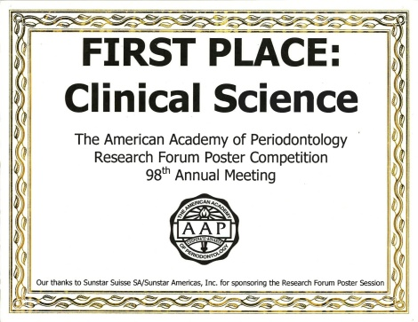 First Place Clinical Science AAP